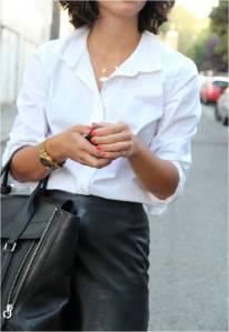 white formal shirt for women